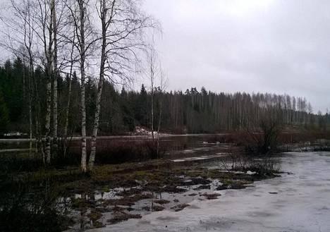 Petikkoon on syntynyt tulvajärvi