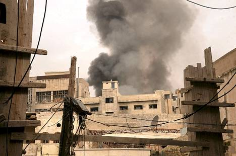 Taistelut jatkuivat Aleppossa lauantaina.