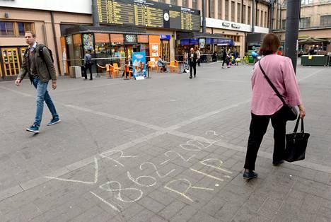 Lakko pysäytti junaliikenteen vuorokaudeksi viime elokuussa. Kuva on Helsingin rautatieasemalta.
