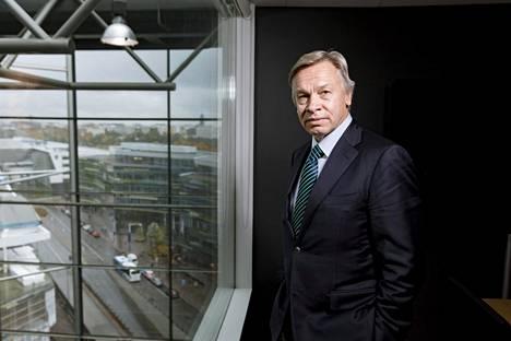 Venäjän senaattori Aleksei Puškov vieraili Helsingissä maanantaina.