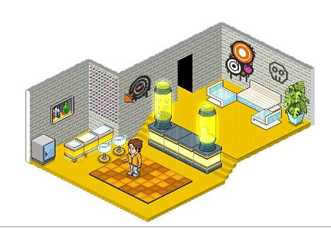 Tällainen on huoneeni Habbo Hotelissa.