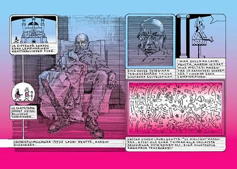 Läskimooseksen värillisessä numerossa 52 esiintyy Marsin suurherra Lauri Kenttä, joka muistuttaa kovasti Matti Hagelbergia itseään.