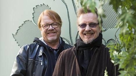 Heikki Silvennoisen (vas.) ja Pave Maijasen bändin nimi on Silvennoinen & Maijanen Band.