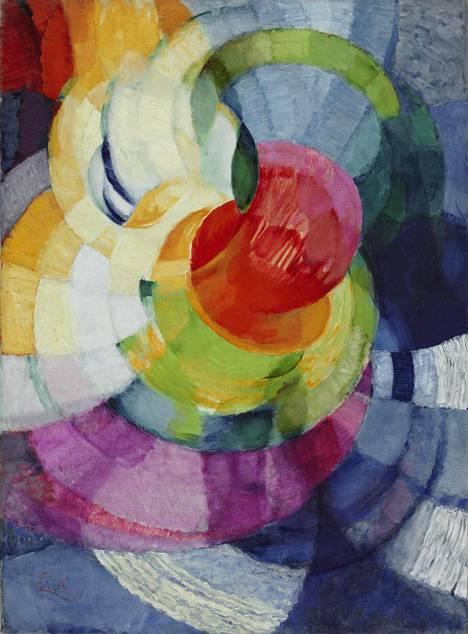 Kupka kiinnostui Newtonin väriteoriasta. Teos Newtonin renkaat, harjoitelma teokseen Kaksivärinen fuuga on vuodelta 1912.