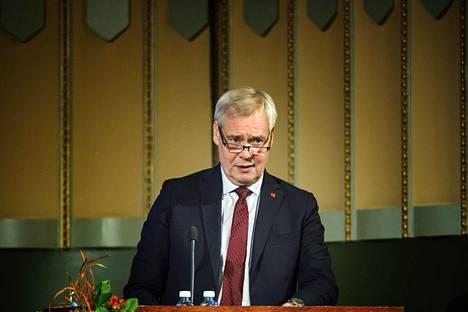 Pääministeri Antti Rinne puhui Keskuskauppakamarin Suuri Veropäivä -tapahtumassa Helsingin Pörssitalolla keskiviikkona.