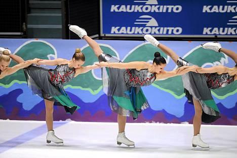 Marigold IceUnity esitti MM-kilpailuohjelmansa pari viikkoa sitten Helsingin Jäähallissa.