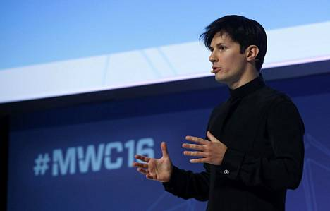 Viestipalvelu Telegramin perustaja ja toimitusjohtaja Pavel Durov puhui helmikuussa Barcelonassa.