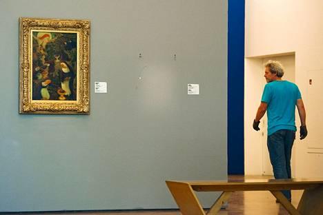Ranskalaisen Henri Matissen taulun paikalla oli tyhjä kohta viime vuoden lokakuussa Rotterdamissa Kunsthalin museossa.
