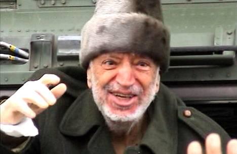 Jasser Arafat pari viikkoa ennen kuolemaansa syksyllä 2004.