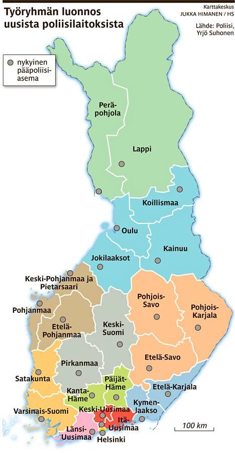 Poliisilaitosten Kartta Piirretaan Uusiksi Kotimaa Hs Fi