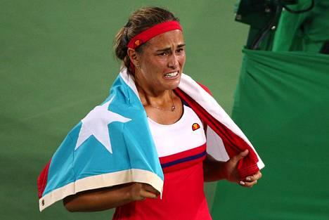 Monica Puig voitti Puerto Ricolle historian ensimmäisen olympiakullan.