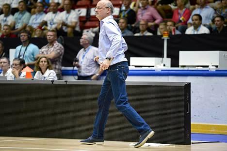 Henrik Dettmann oli tyytyväinen joukkueensa peli-ilmeeseen.
