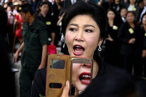 Thaimaan entinen pääministeri Yingluck Shinawatra saapui Thaimaan korkeimpaan oikeuteen Bangkokissa viime heinäkuussa.