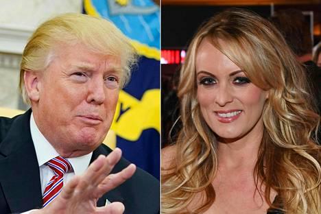 Donald Trump ja Stormy Daniels.