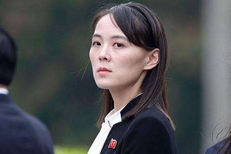 Pohjois-Korean johtajan Kim Jong-unin sisko Kim Yo-jong.