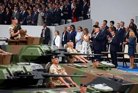 Ranskan kansallispäivän sotilasparaati teki Trumpiin vaikutuksen viime kesänä.
