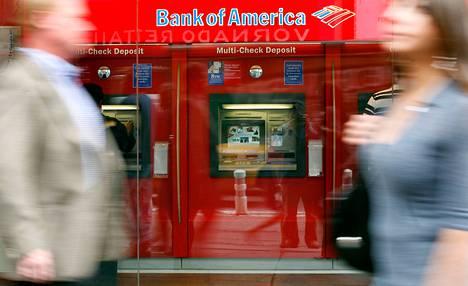 Bank of American automaatti New Yorkissa.