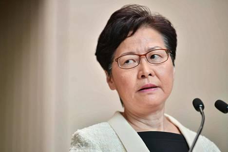 Hallintojohtaja Carrie Lam.