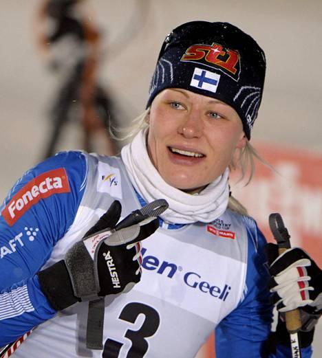 Anne Kyllönen sanoi tienneensä, että loppukiriin löytyi voimia ja paukkuja.