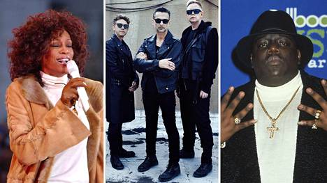 Whitney Houston, Depeche Mode ja Notorious B.I.G. lisättiin Rock and Roll Hall of Fame -kunniagalleriaan.
