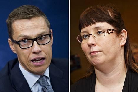 Alexander Stubb ja Merja Kyllönen