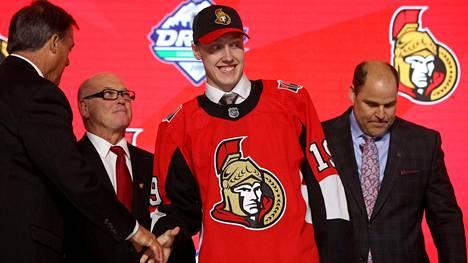 Ottawa Senatorsiin varattu Lassi Thomson oli suomalaisittain tilaisuuden yllätysnimi.