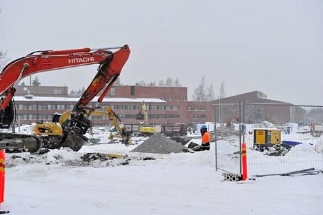 Aalto-yliopiston Otaniemen kampuksella Espoossa ovat meneillään mittavat rakennustyöt.
