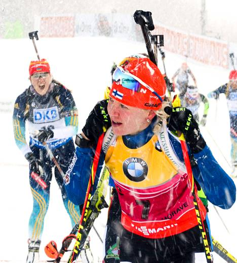 Kaisa Mäkäräinen on sijoittunut urallaan 49 kertaa maailmancupissa kolmen parhaan joukkoon.
