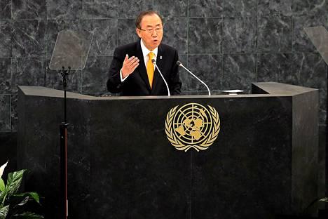 Pääsihteeri Ban Ki-moon avasi myös Syyrian tilannetta käsitelleen YK:n yleiskokouksen syyskuun lopulla New Yorkissa.