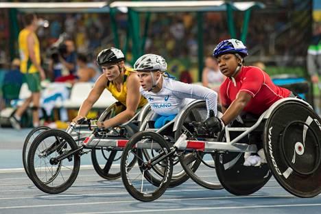 Amanda Kotaja Rion paralympialaisissa vuonna 2016.