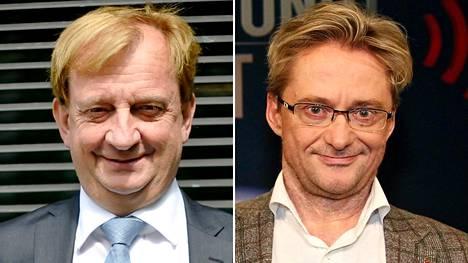 Hjallis Harkimo (vas.) ja Mikael Jungner