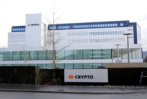 Crypto AG:n pääkonttori Sveitsin Steinhausenissa helmikuussa 2020.