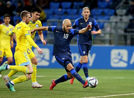 On Tuesday in Kazakhstan, Pukki scored two goals.  Finland still retained the opportunity to survive the Qatar World Cup.