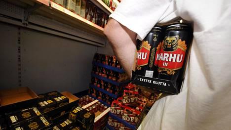Olut on suosittu myymälävarkaustuote.