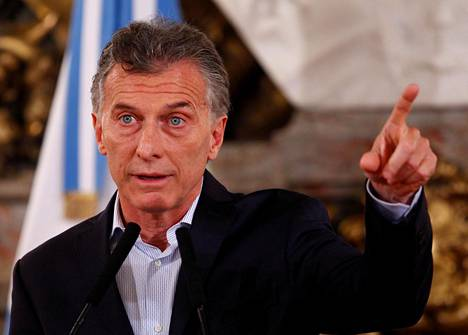 Keskustaoikeistolainen Mauricio Macri on toiminut Argentiinan presidenttinä vuodesta 2015.