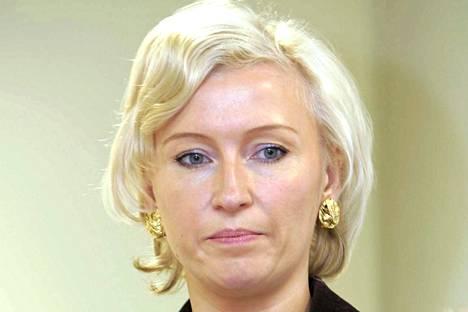 Kristiina Ojuland kuvattuna Tallinnassa syyskuussa 2004, jolloin hän toimi Viron ulkoministerinä.