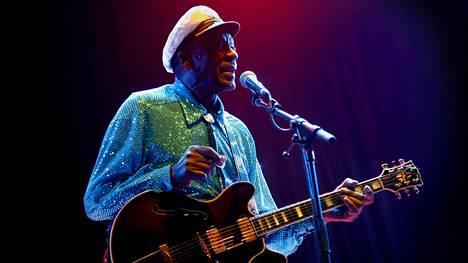 Chuck Berry konsertoi Messukeskuksessa maaliskuussa 2008.