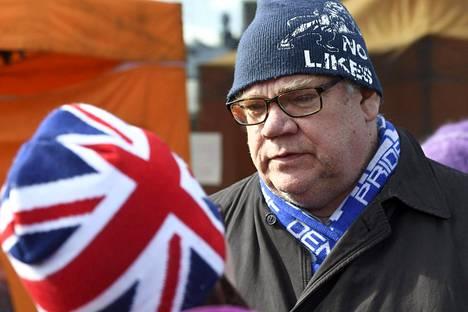 Timo Soini kampanjoi edustamansa Sininen tulevaisuus -puolueen eduskuntavaalitilaisuudessa Korsossa maaliskuun lopussa.