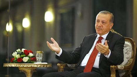 Presidentti Recep Tayyip Erdoğan heinäkuussa.