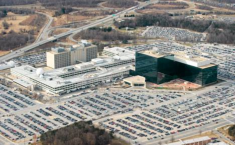 The National Security Agency (NSA) headquarters at Fort Meade, Maryland, as seen from the air, in this January 29, 2010 file photo.