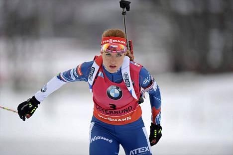 Gabriela Koukalova on Tšekin tunnetuin ampumahiihtäjä.