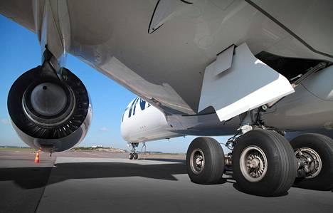 Myös Finnairin laivastoon kuuluu Airbusin lentokoneita, kuten Airbus A350.