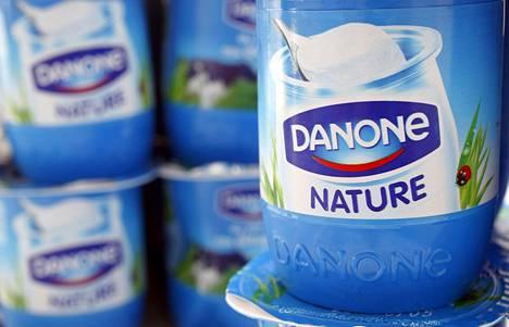 Danone tunnetaan muun muassa meijerituotteistaan.