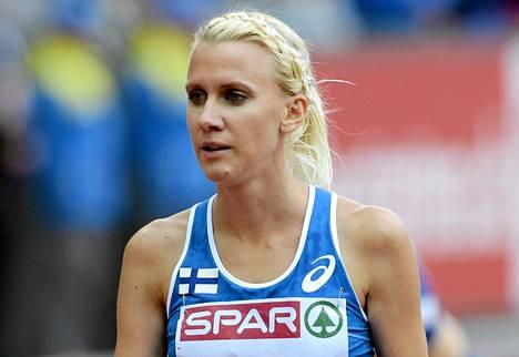 Sandra Eriksson hakee EM-kultaa sunnuntaina.