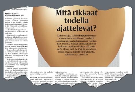 HS kertoi sunnuntaina laajasti Anu Kantolan ja Hanna Kuuselan tuoreesta tutkimuksesta.
