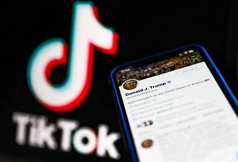 Microsoft on havitellut Tiktokia, ja nyt kilpaan on liittynyt mukaan Twitter. Kuvassa presidentti Donald Trumpin Twitter-tili.