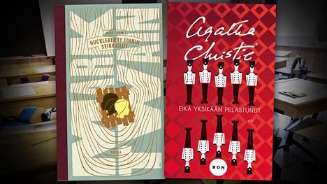 Mark Twainin Huckleberry Finnin seikkailut ja Agatha Christien Eikä yksikään pelastunut, joka tunnettiin Suomessa ennen nimellä Kymmenen pientä neekeripoikaa.