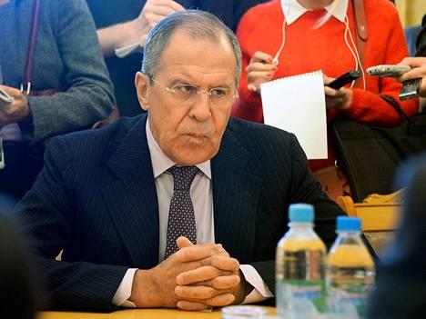 Venäjän ulkoministeri Sergei Lavrov Moskovassa viime torstaina.