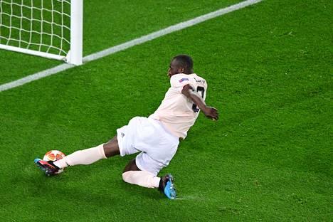 ManU:n Romelu Lukaku teki joukkueelleen kaksi maalia ottelussa PSG:tä vastaan.