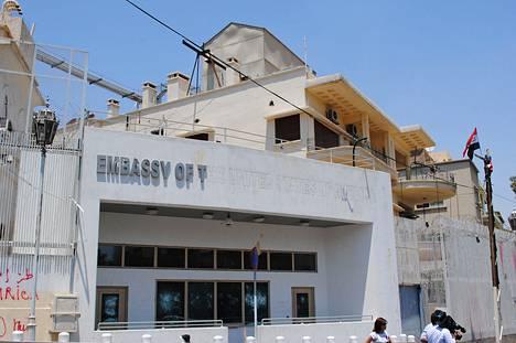 Yhdysvaltain lähetystörakennus Damaskoksessa.